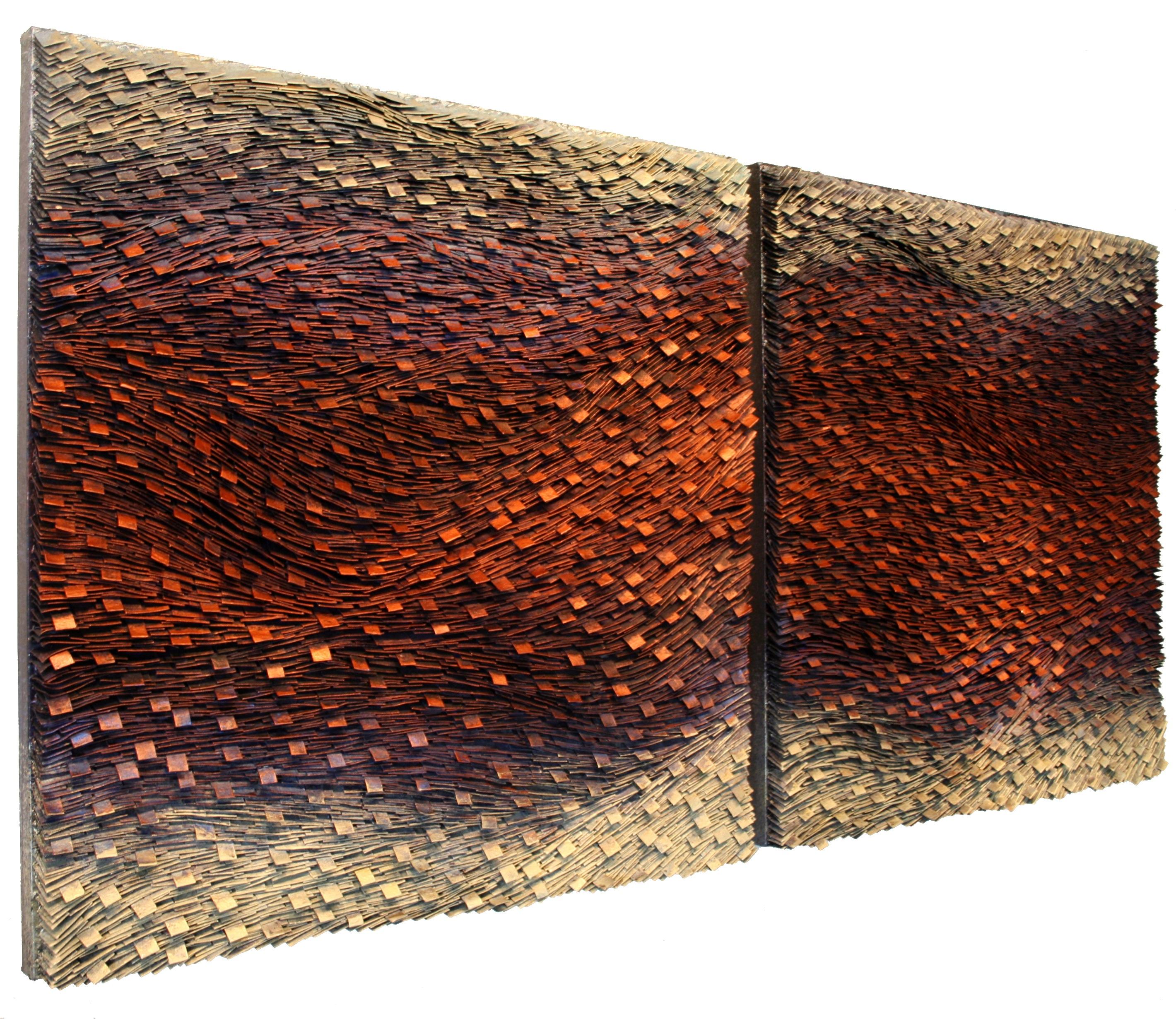 Copper Dream Diptych 36x72