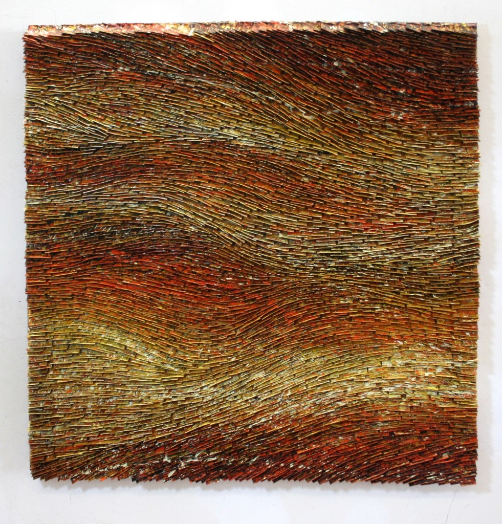 Copper Gold Strata  36 x 36