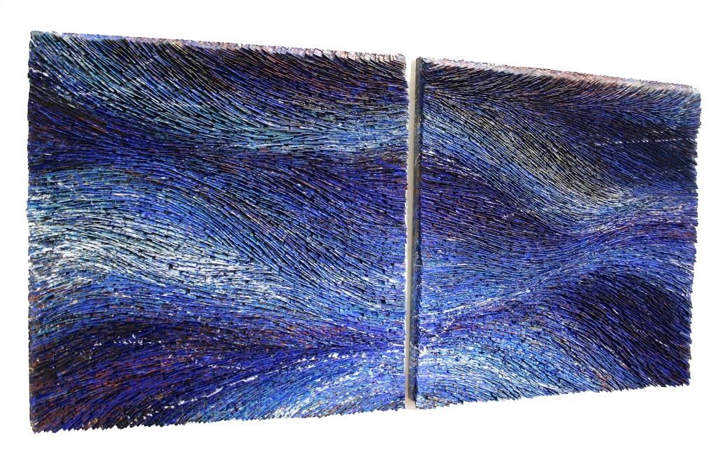 Deep Blue I & II  36 x 36 ea.