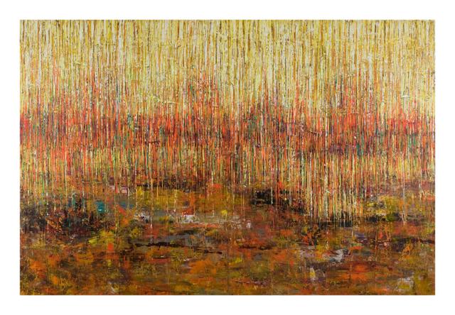 Orange Rain 108x72