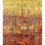 Yellow Orange Linear Series 50x70