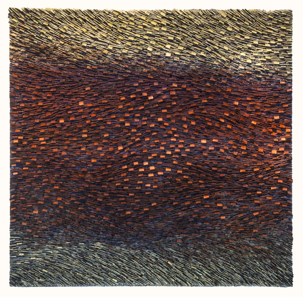 Copper Layered Strata   48 x 48