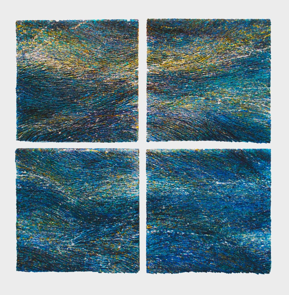 Rhythm & BLues  I, II, III, IV   36 x 36 each piece