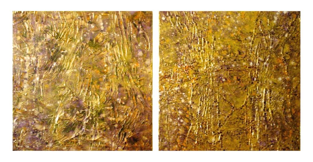 Gold Trails I & II 30x30 each piece